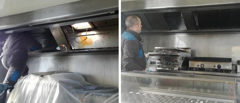 dégraissage hotte foodtruck
