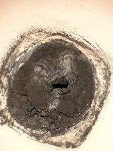 Bouche de ventilation bouché à cause d'absence d'entretien